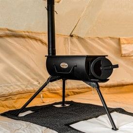 Boutique Camping Portable Wood burning Stove with Glass Door