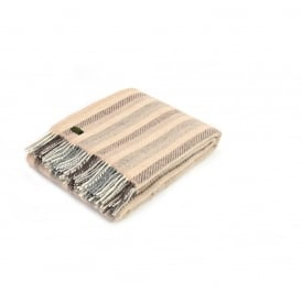 Tweedmill Pure New Wool Stripe Throw - Brown