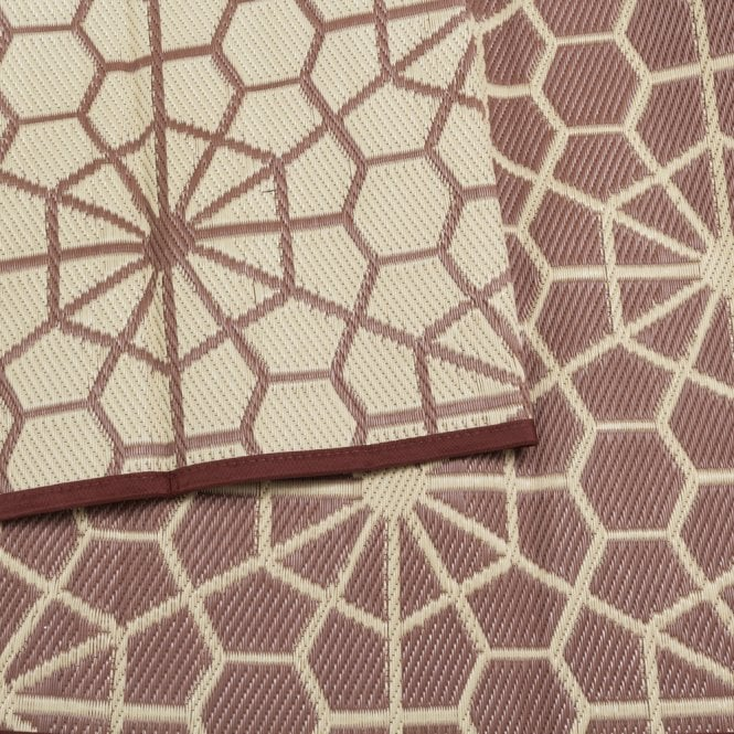 Recycled Polypropylene Matting - Brown & Cream