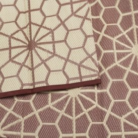 Boutique Camping Reversible Recycled Polypropylene Matting - Brown & Cream