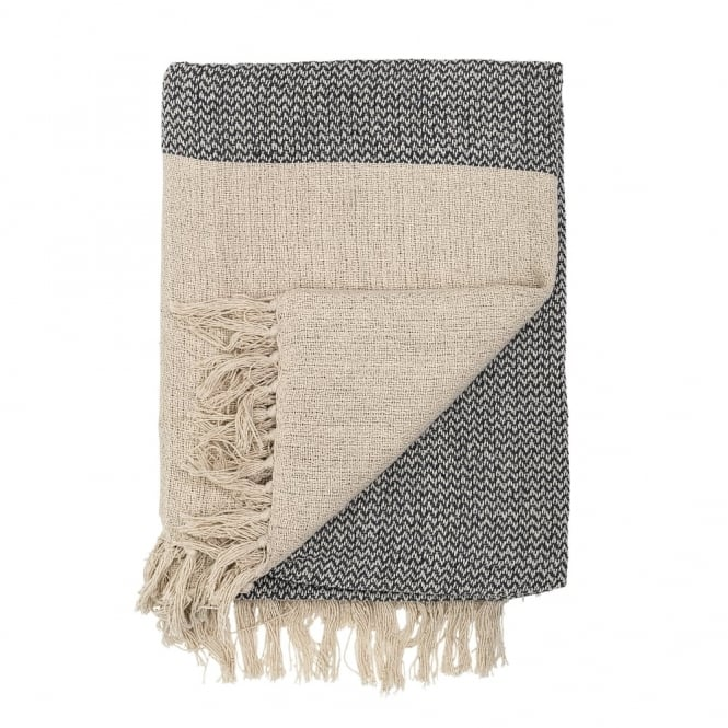 Scandinavian Style Light Cotton Throw, Natural