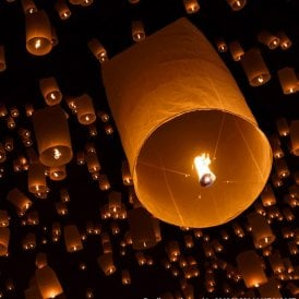 Set of 10 - Flying Lanterns