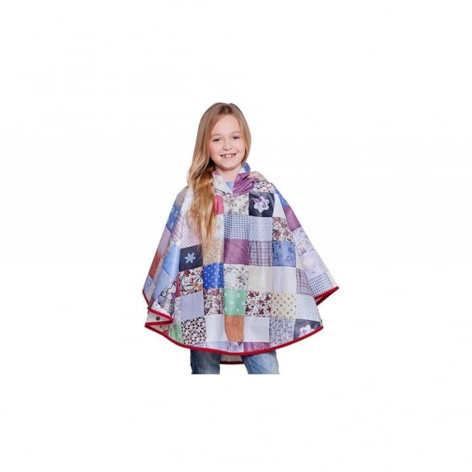 Snug As A Bug Kids Patchwork Poncho