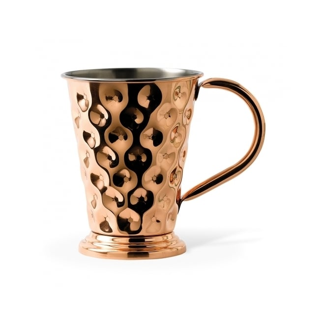 Solid Copper Tapered Dented Mug