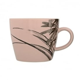 Boutique Camping Sooji Palm Print Ceramic Mug, Rose Pink