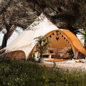 Boutique Camping Star Bell Tent - Canvas