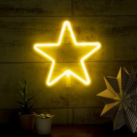 Star LED Neon Light - White