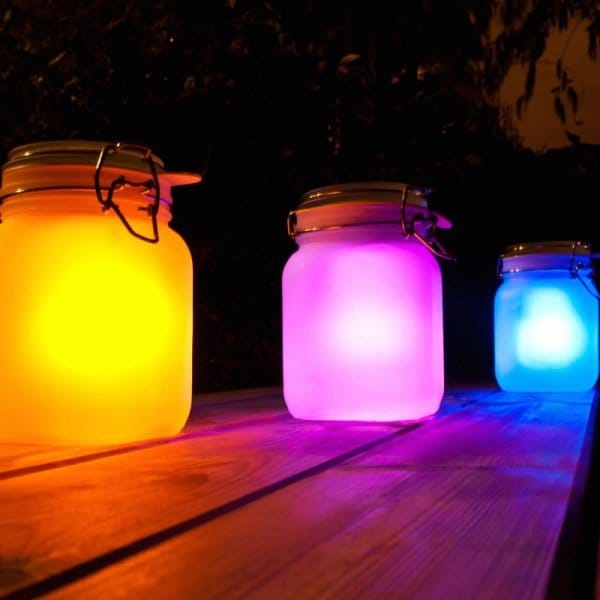 sun jar led night light yellow. Black Bedroom Furniture Sets. Home Design Ideas