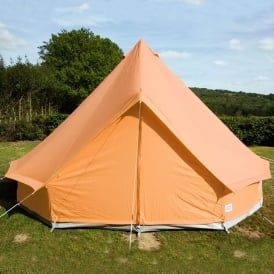 Boutique Camping Tangerine Orange Bell Tent With Zipped in Ground Sheet