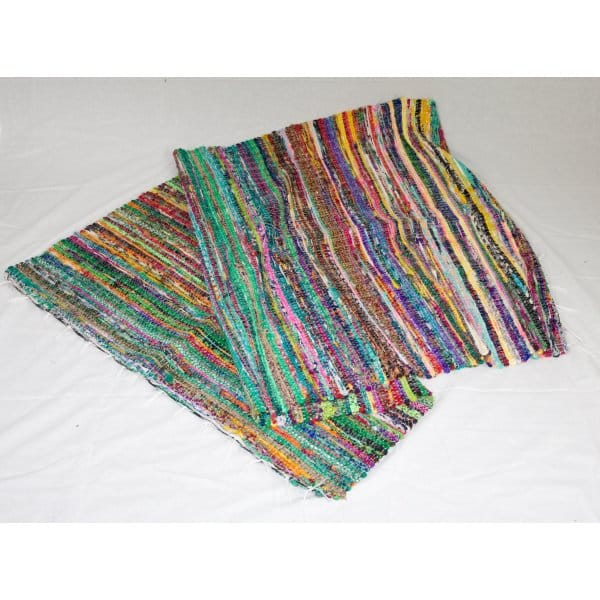 Rag Rugs Indian: Traditional Multi Coloured Indian Rag Rug