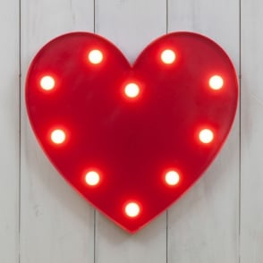 Boutique Camping Vegas L.E.D. Circus Light - Heart Red