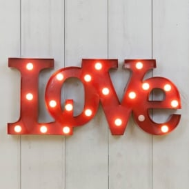 Vegas L.E.D Circus Lights LOVE - Red