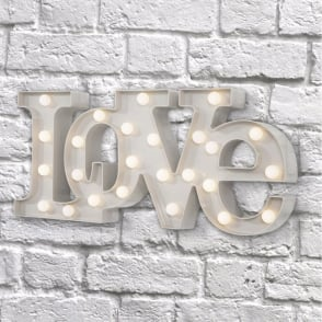 Boutique Camping Vegas L.E.D. Plastic Fun Light - LOVE White