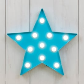 Boutique Camping Vegas L.E.D. Plastic Fun Light - Star Blue