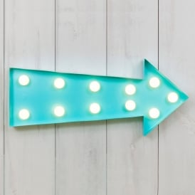 Vegas Metal L.E.D. Circus Light - Arrow Blue