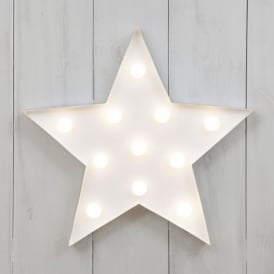 Vegas Metal L.E.D. Circus Light - Star White