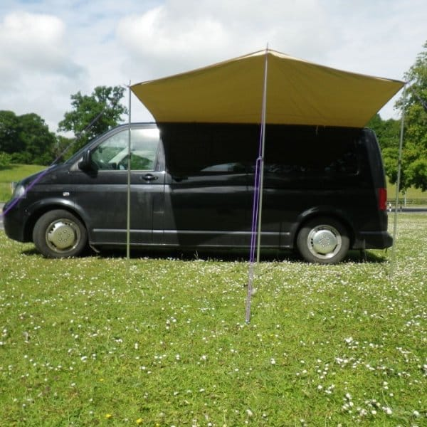 VW T5 Canopy Awning and Rail - Sandstone & Sandstone Awning | Boutique Camping for Camper Van