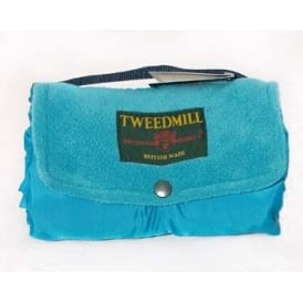 Tweedmill Walker Companion Fleece Picnic Rug - Turquoise