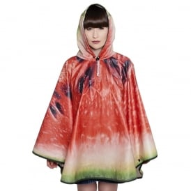 What a Melon Watermelon Design Poncho
