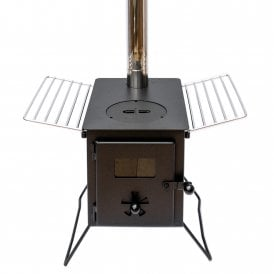 Boutique Camping Woodburning Stove with Grill