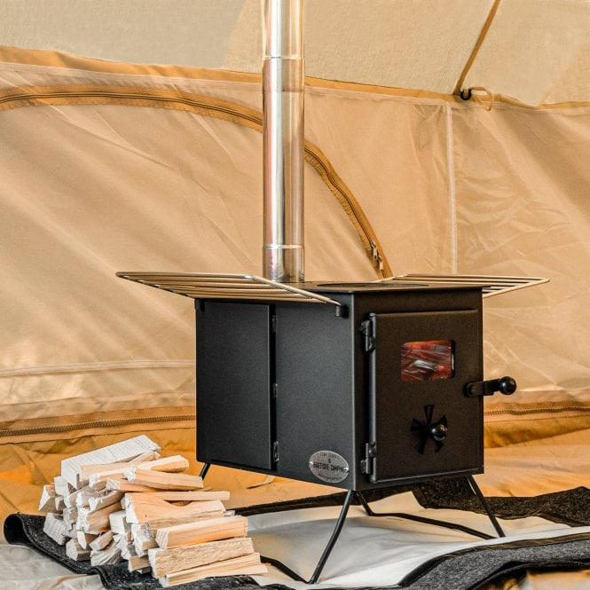 Woodburning Stove with Grills and Extra Inlet.