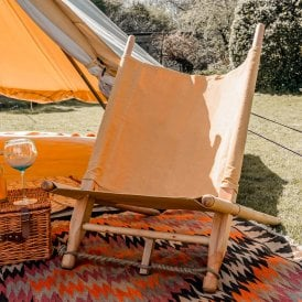 Boutique Camping Wooden Deck Chair