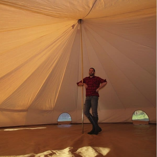 7m Sandstone Bell Tent Boutique Camping