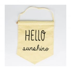Sass and Belle Yellow 'Hello Sunshine' Pastel Banner